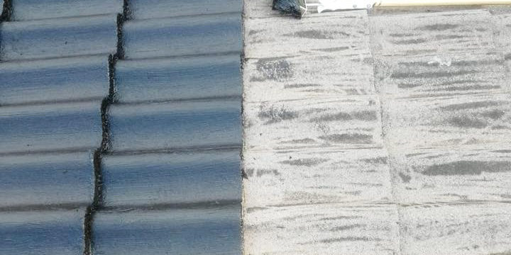 Tiled roof before and after ElaProof handling