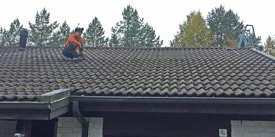 Tiled roof before ElaProof handling